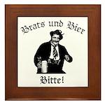 Brats und Bier Framed Tile