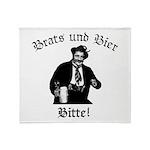 Brats und Bier Throw Blanket