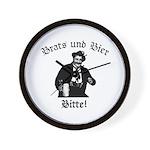 Brats und Bier Wall Clock