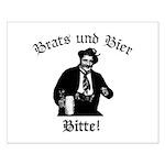 Brats und Bier Small Poster