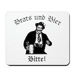Brats und Bier Mousepad