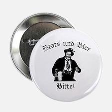 """Brats und Bier 2.25"""" Button"""