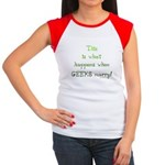 When geeks marry Women's Cap Sleeve T-Shirt
