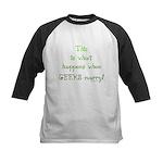 When geeks marry Kids Baseball Jersey