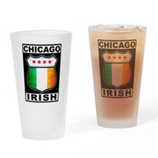 Chicago Irish American Sign Drinking Glass