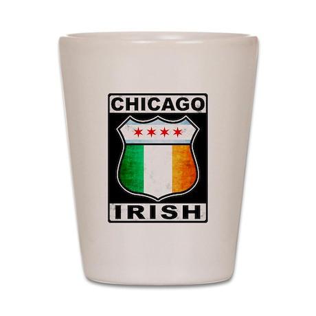 Chicago Irish American Sign Shot Glass
