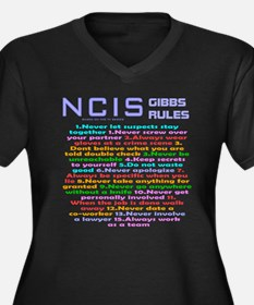 NCIS Gibbs Rules Plus Size T-Shirt