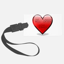 heart lll copy.jpg Luggage Tag