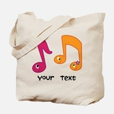 Personalized Music Notes Tote Bag