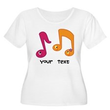 Personalized Music Notes T-Shirt