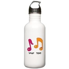 Personalized Music Notes Stainless Water Bottle 1.