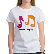 Personalized Music Notes Tee