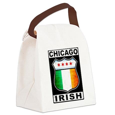 Chicago Irish American Sign Canvas Lunch Bag