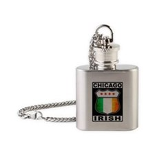 Chicago Irish American Sign Flask Necklace