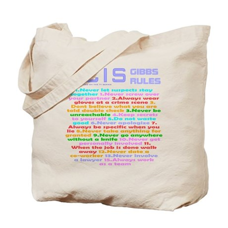 NCIS Gibbs Rules Tote Bag