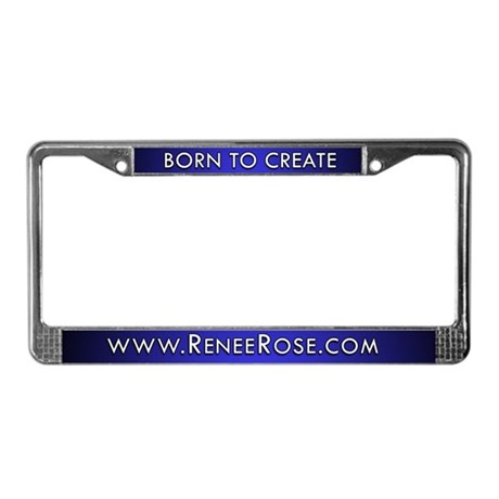 BORN TO CREATE - License Plate Frame