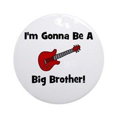 Gonna Be A Big Brother (guita Ornament (Round)