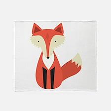Cartoon Fox Throw Blanket