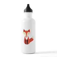 Cartoon Fox Sports Water Bottle