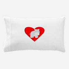 Cartoon Hippo Heart Pillow Case