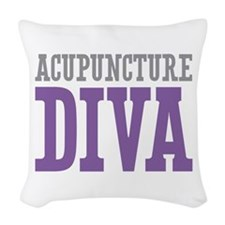Acupuncture DIVA Woven Throw Pillow