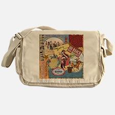 Vintage Western cowgirl collage Messenger Bag