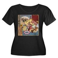 Vintage Western cowgirl collage Plus Size T-Shirt