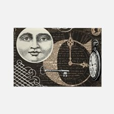 Modern Vintage Steampunk collage Rectangle Magnet