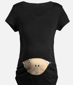 Baby Peeking Maternity T-Shirt