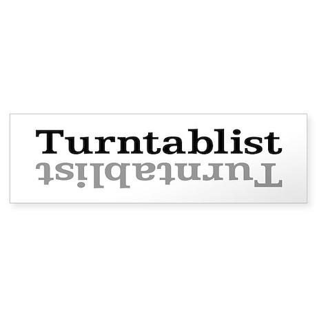 Turntablist Sticker (Bumper)