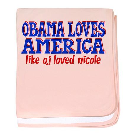 Obama Loves America baby blanket