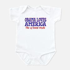 Obama Loves America Infant Bodysuit