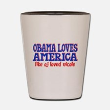 Obama Loves America Shot Glass