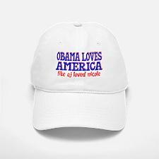 Obama Loves America Baseball Baseball Cap
