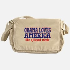 Obama Loves America Messenger Bag