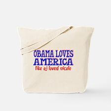 Obama Loves America Tote Bag