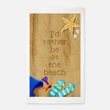 Rather be at Beach 3x5 Area Rug