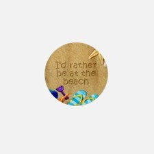 Rather be at Beach Mini Button (100 pack)