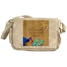 Rather be at Beach Messenger Bag