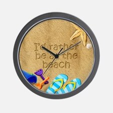 Rather be at Beach Wall Clock