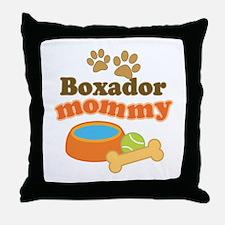Boxador Mommy Throw Pillow