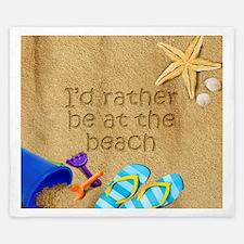 Rather be at Beach King Duvet