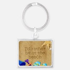 Rather be at Beach Landscape Keychain