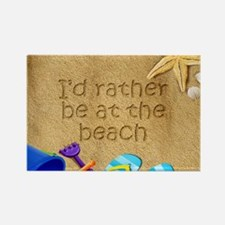 Rather be at Beach Rectangle Magnet
