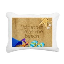Rather be at Beach Rectangular Canvas Pillow
