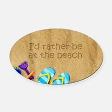 Rather be at Beach Oval Car Magnet