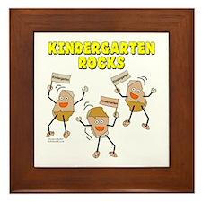 Kindergarten Rocks Framed Tile