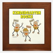 Kindergarten Rocks Framed Tile
