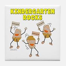 Kindergarten Rocks Tile Coaster
