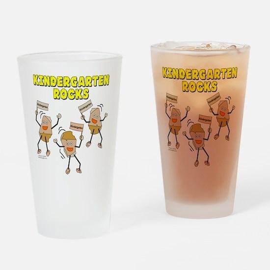 Kindergarten Rocks Drinking Glass